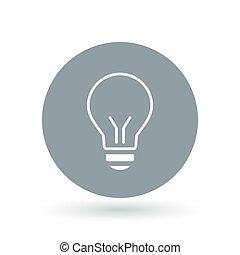 lightbulb, halogen, illustration., el, lys, tegn., symbol., vektor, pære, icon.
