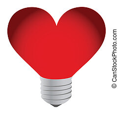 Lightbulb heart