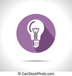 lightbulb, icon., ベクトル, eps10