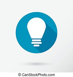 Lightbulb icon in flat style.