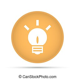 Lightbulb icon on a circle on a white background. Vector illustration