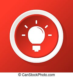 Lightbulb icon on red