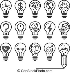 lightbulb icons