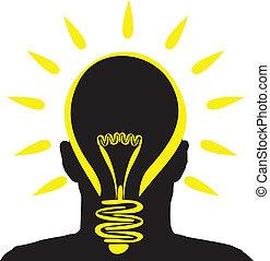 lightbulb, idé