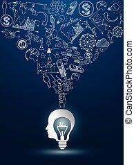 lightbulb, idéias