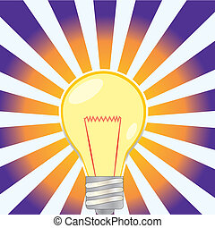 lightbulb, illustratated, ontsteken onderleggers