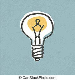 lightbulb, illustration., symbole, eps10., idée, créatif, vecteur, concept.