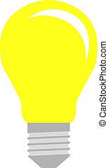 Lightbulb in flat style