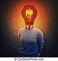 lightbulb instead head