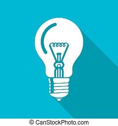 lightbulb, konzervativní, icon., eps10, vektor