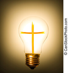 lightbulb, krzyż
