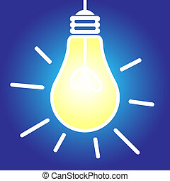 Lightbulb lit - Lit lightbulb icon, bright idea, inspiration...