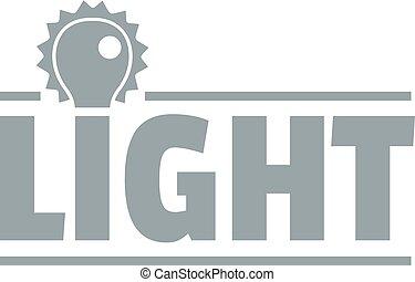 Lightbulb logo, simple gray style