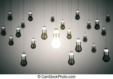 lightbulb, många