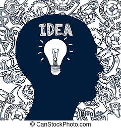 Lightbulb man idea