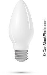 lightbulb, mat, fond blanc