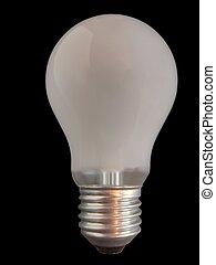 Lightbulb - Matt lightbulb isolated on black background