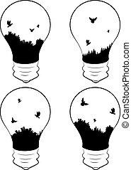 lightbulb, miasto