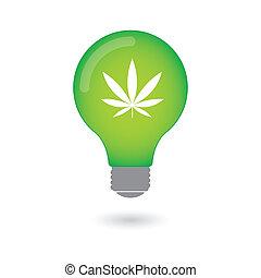 lightbulb, mit, ikone