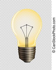 Lightbulb on transparent background illustration