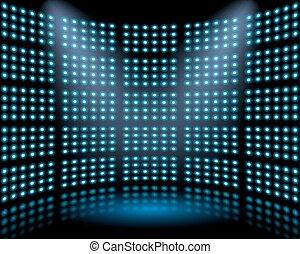 lightbulb, opvoering, toneel