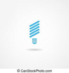 lightbulb, pictogram