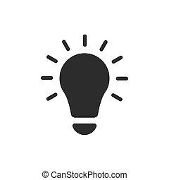 lightbulb, plat, idées, illustration, vecteur, icon.
