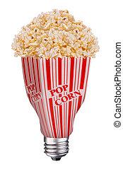 lightbulb popcorn