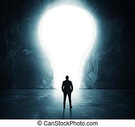 lightbulb, porte