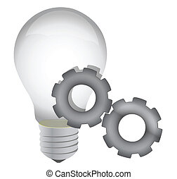 lightbulb, postęp, pojęcie, idea