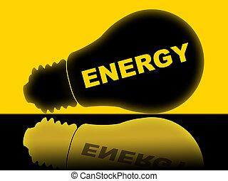 lightbulb, puissance, source énergie, annonce, spectacles