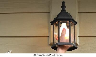 lightbulb, remplacer, cfl, vieux