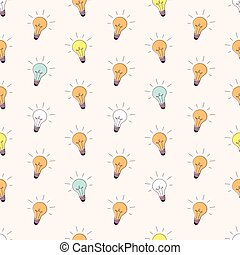 Lightbulb Seamless Pattern