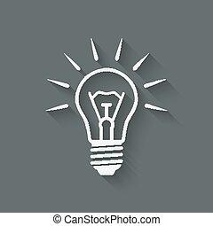 lightbulb, symbole, idée