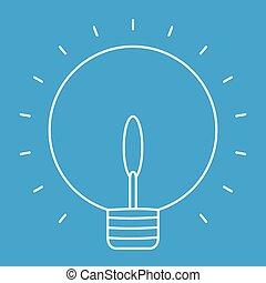 Lightbulb thin line icon
