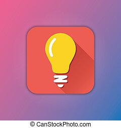 lightbulb, vecteur, icône