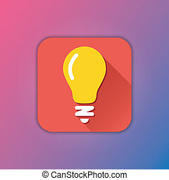 lightbulb, vector, pictogram