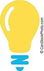 lightbulb, vetorial, ícone