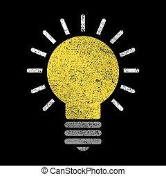 lightbulb, vetorial