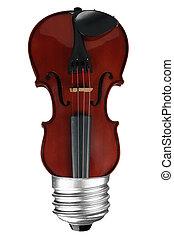 lightbulb, violon
