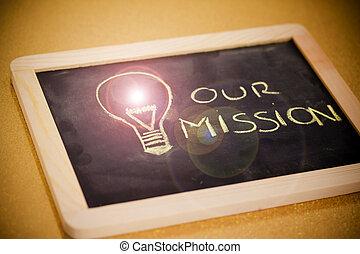 lightbulb, vision, business, flamme, craie, version