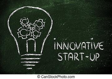 lightbulb, vision, business, gearwheels