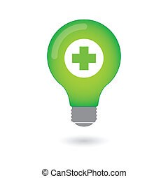 Lightbulb with icon