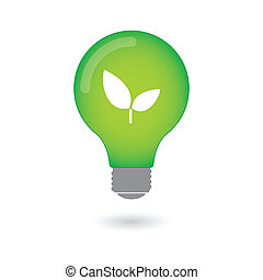 Isolated lightbulb with an icon