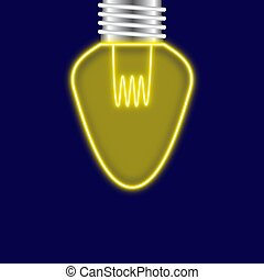 Lightbulb with neon style on background