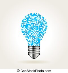 Lightbulb with water splashes