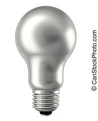 lightbulb, witte , zilver, vrijstaand