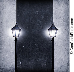 lighted board for your text - abstract pathway with many ...