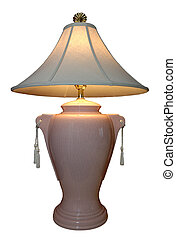 Lighted Lamp - A lighted lamp with tassels. 12MP camera,...