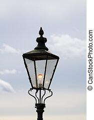 Lighted lantern.